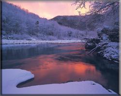 Immagine della Val di Vara sotto la neve