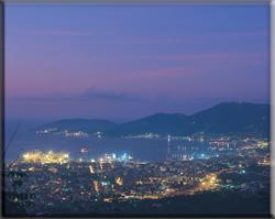 Immagine del Golfo della Spezia di notte