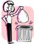 immagine di una persona che butta la spazzatura